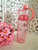 ružová fľaša s rozprašovačom-0,6l,