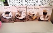 4 x obraz káva,