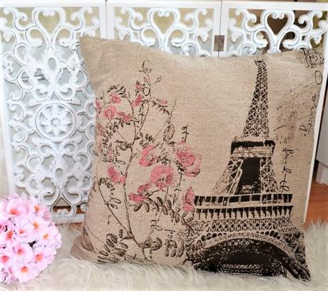 obliečka paris s ružovými kvetmi - Obrázok č. 1