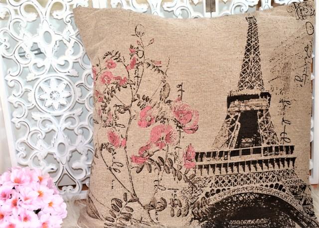 obliečka paris s ružovými kvetmi - Obrázok č. 2