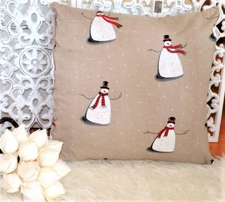 2 x obliečka na vankúš-snehuliak - Obrázok č. 1