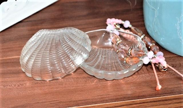 sklenená mušla šperkovnička - Obrázok č. 1