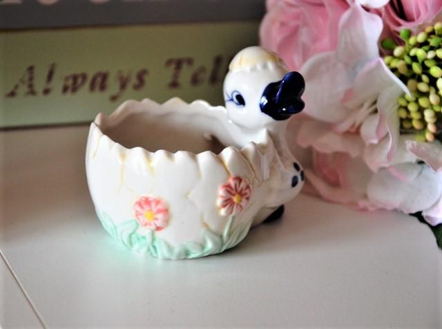 keramický kvetináčik kačička-šperkovnička - Obrázok č. 1