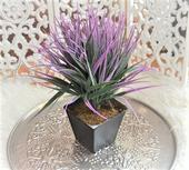 umelá vanilka v keramickom kvetináči-32cm,