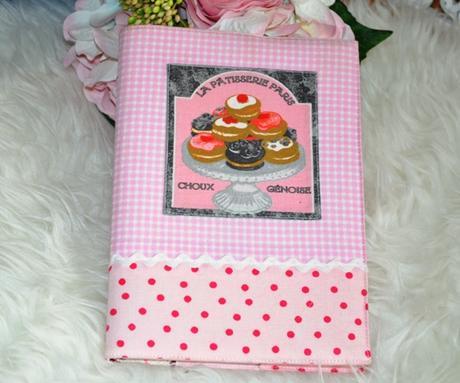 textilný obal na kuchársku knihu - Obrázok č. 1