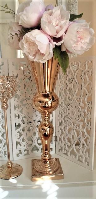 luxusná vysoká zlatá váza - Obrázok č. 2