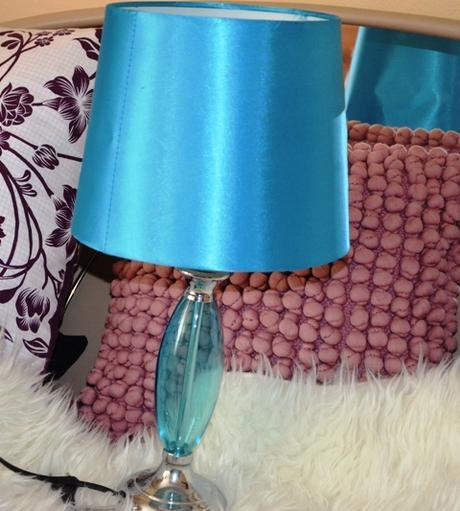 štýlová dizajnová tyrkys lampa - Obrázok č. 1