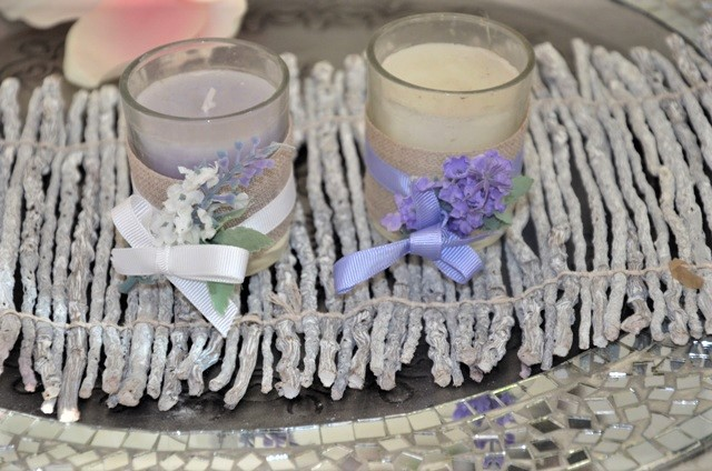 2 x sviečka levanduľa - Obrázok č. 1