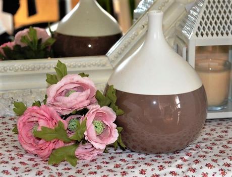hnedo biela keramická váza - Obrázok č. 1