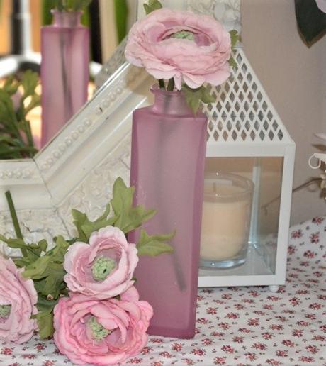 ružová sklenená váza - Obrázok č. 1