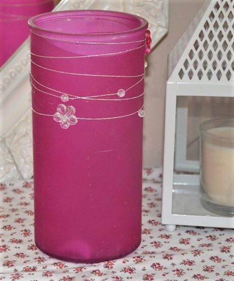 sklenená ružová váza - Obrázok č. 1