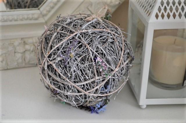 dekoračná prútená guľa - Obrázok č. 1