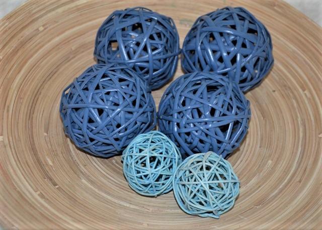 6 x modrá aranžovacia guľa - Obrázok č. 1