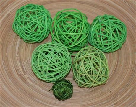 6 x zelená aranžovacia guľa - Obrázok č. 1