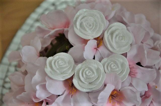5 ks sadrových ružičiek - Obrázok č. 1