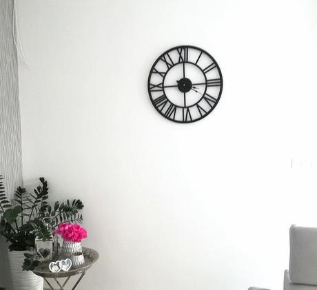 Závesné kovové vintage hodiny, priemer 59cm - Obrázok č. 1