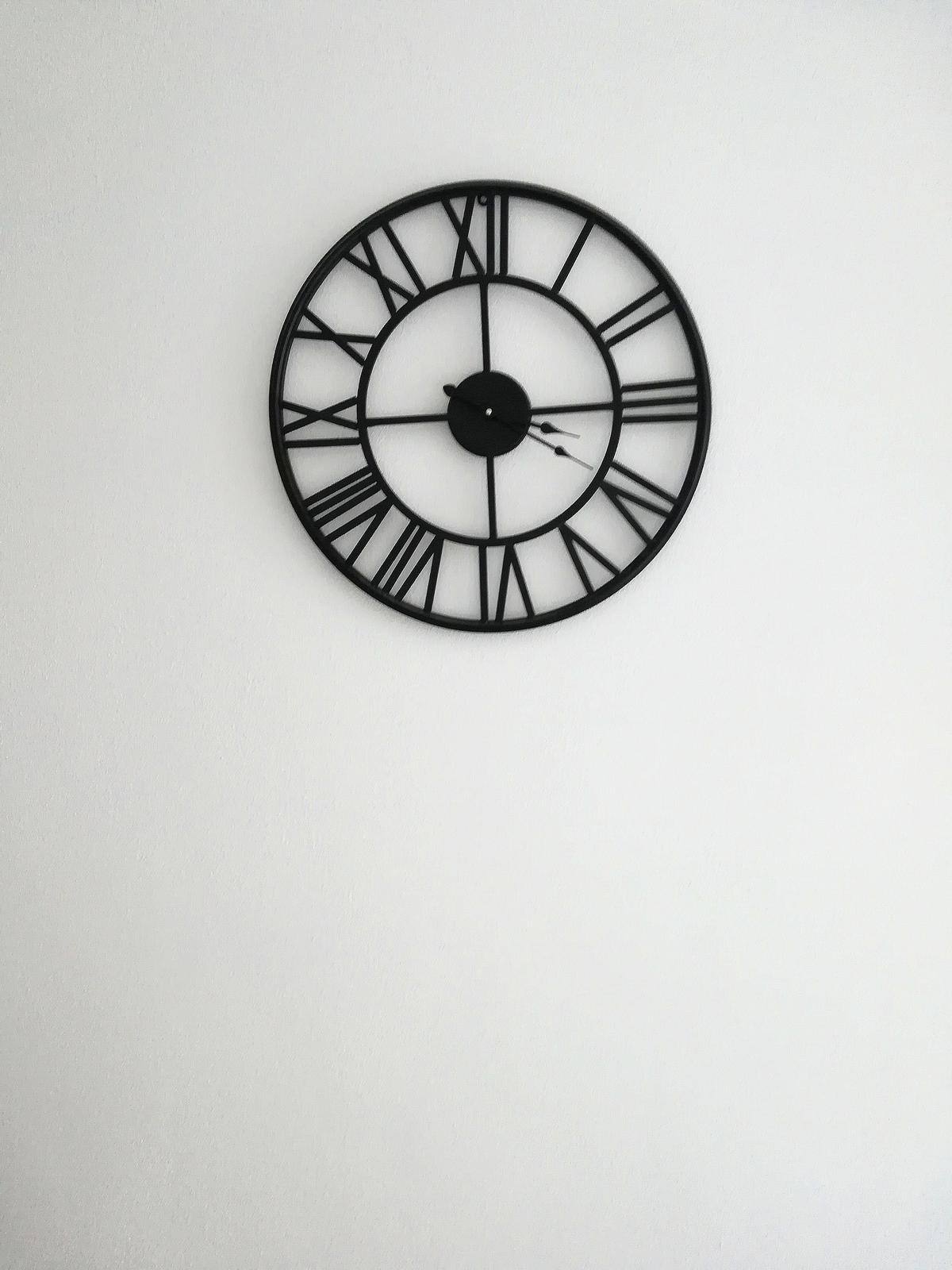 Závesné kovové vintage hodiny, priemer 59cm - Obrázok č. 2