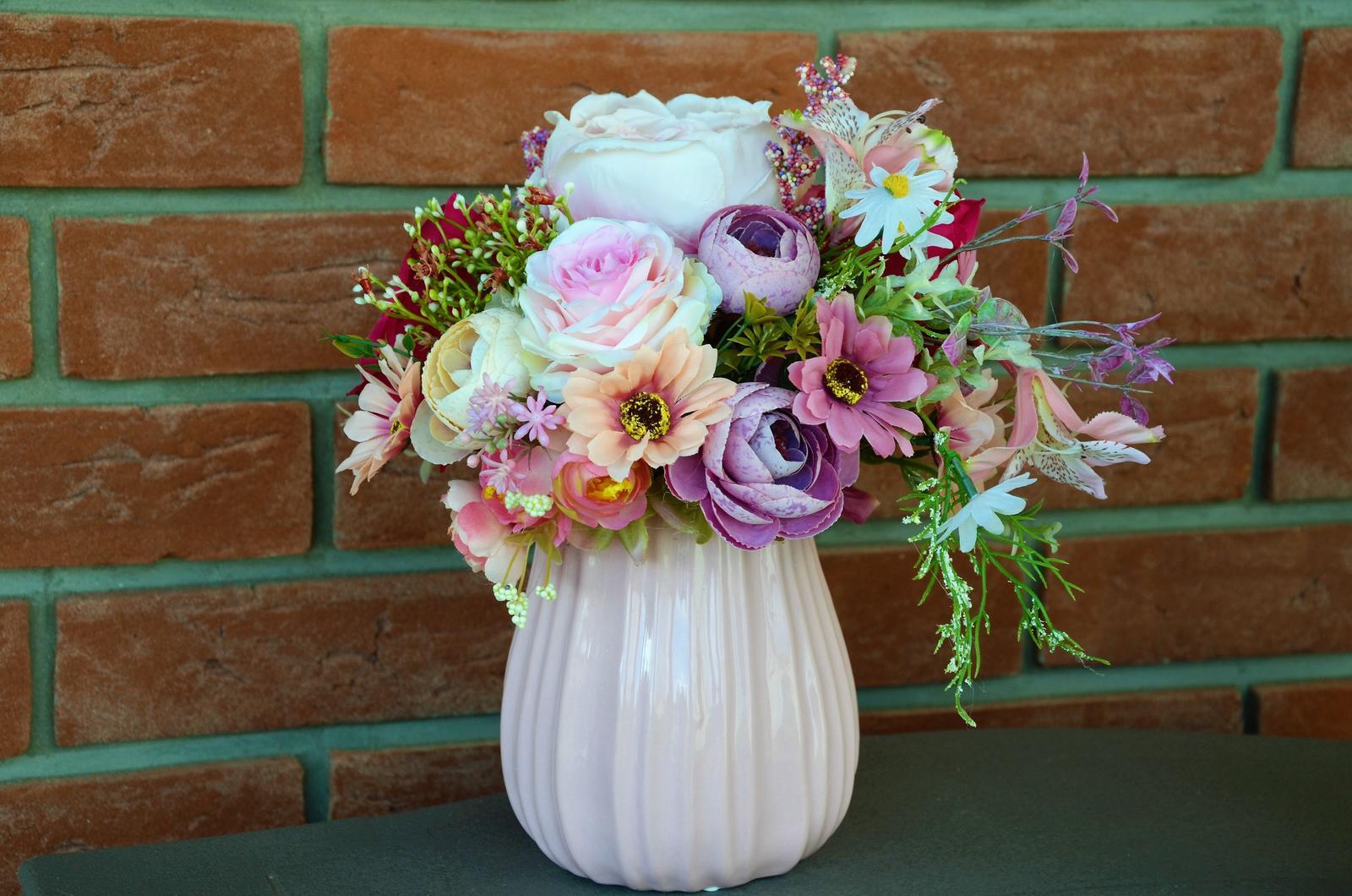 lúčne kvety vo váye-dekorácia - Obrázok č. 1