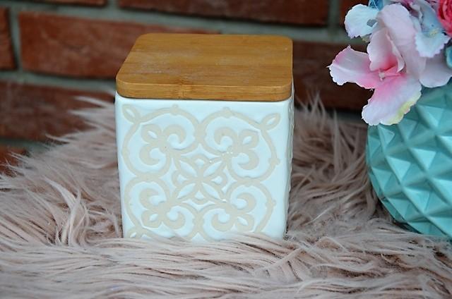 keramická dóza s bambus vrchnákom - Obrázok č. 1