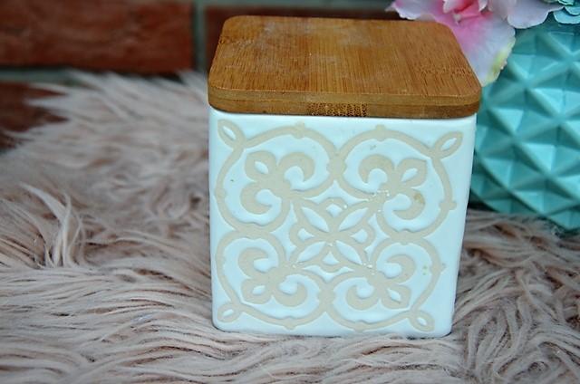 keramická dóza s bambus vrchnákom - Obrázok č. 4