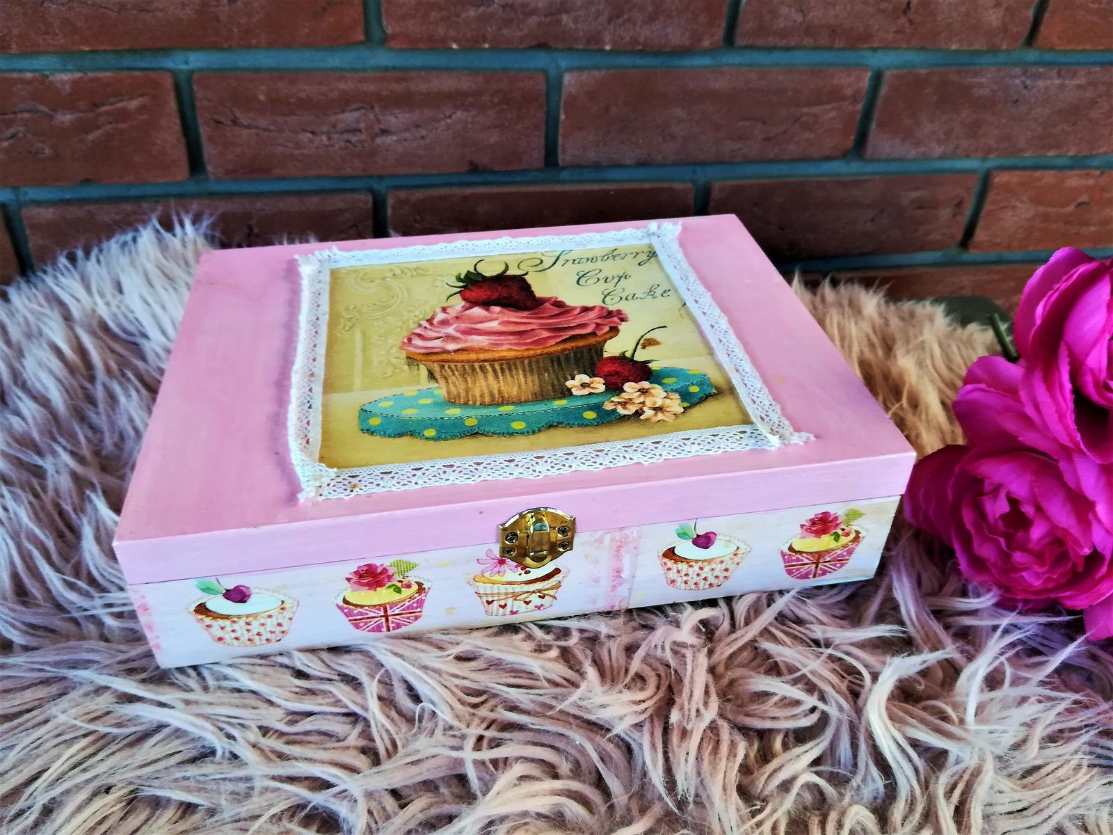 veľká muffin krabica na čaj - Obrázok č. 1