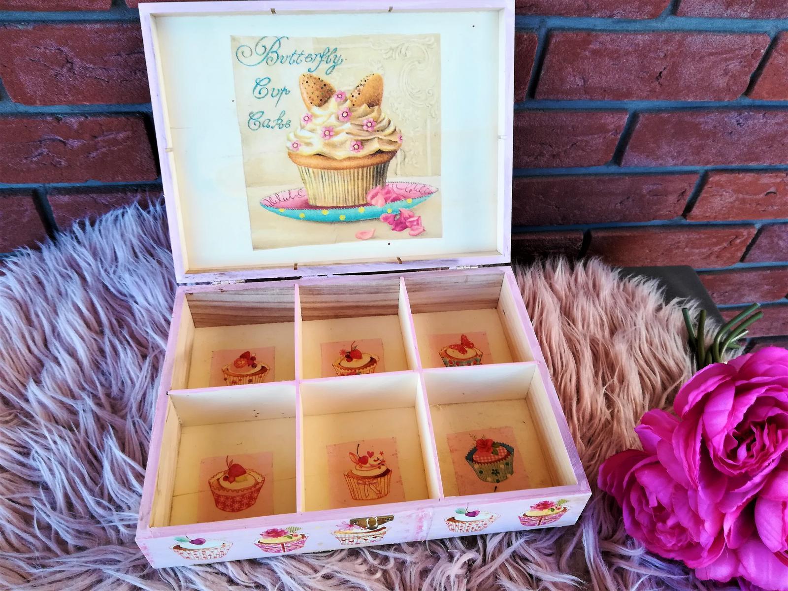 veľká muffin krabica na čaj - Obrázok č. 3