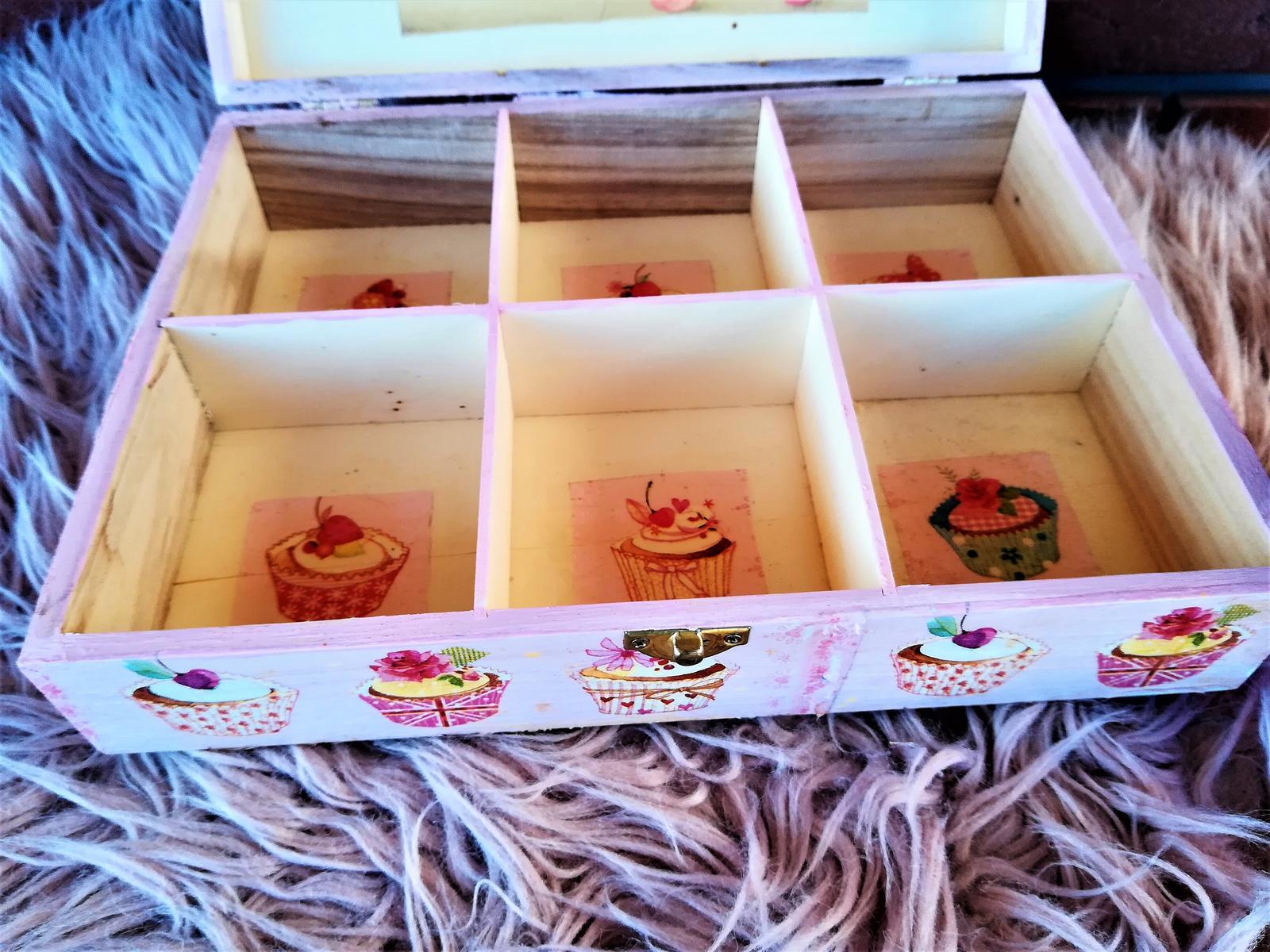 veľká muffin krabica na čaj - Obrázok č. 4
