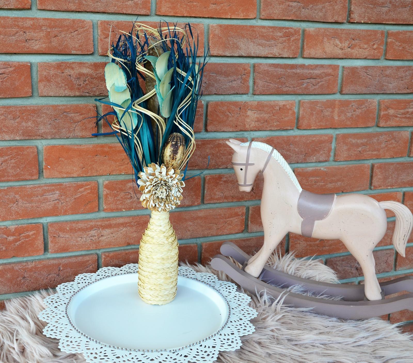 sušená kytica s vázou - Obrázok č. 1