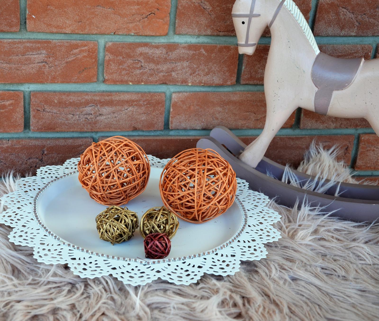 5 ks ratanová aranžovacia guľa - Obrázok č. 2