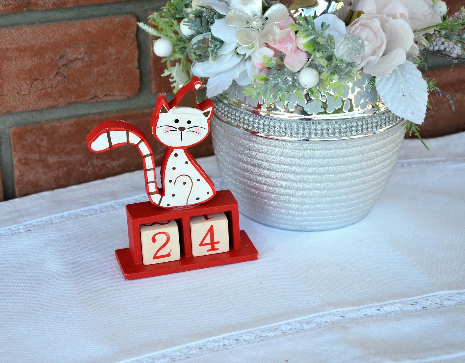 vianočný adventný kalendár mačička - Obrázok č. 1