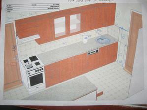 plánek jak bude naše kuchyň vypadat