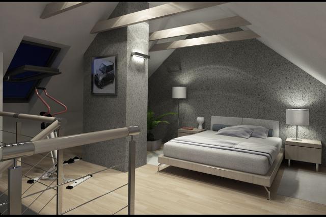 3D návrh spálni - Obrázok č. 6