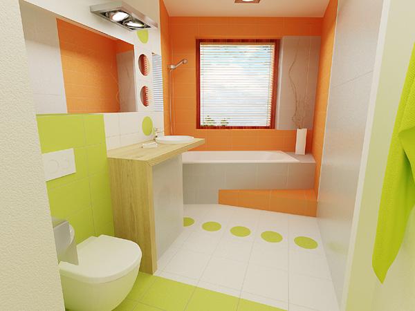 3D návrh kúpelní - hra farieb