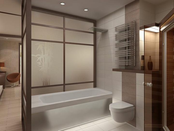 3D návrh spálni - spálna s kúpelnou