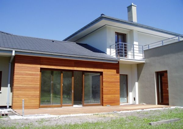 Návrh fasád kameň/drevo - Obrázok č. 1