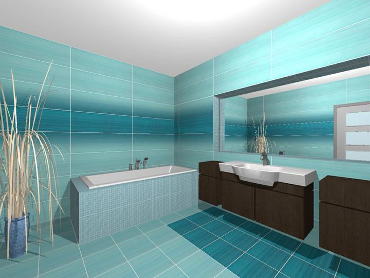 Návrh kúpelňových obkladov - vizualizácia