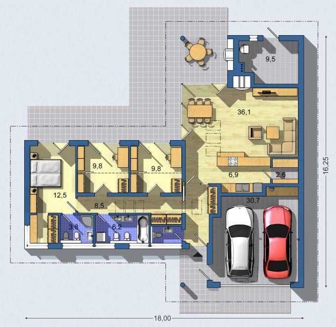 Moje milovane bungalovy - zariadenie, pôdorysy, rozloženie... - Obrázok č. 45
