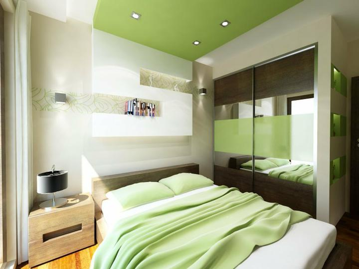 Zelené spálne - krasna, svieza, jednoducha