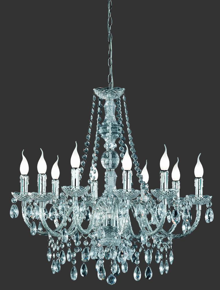 Luxusný luster s desiatimi svetlami. - Obrázok č. 2