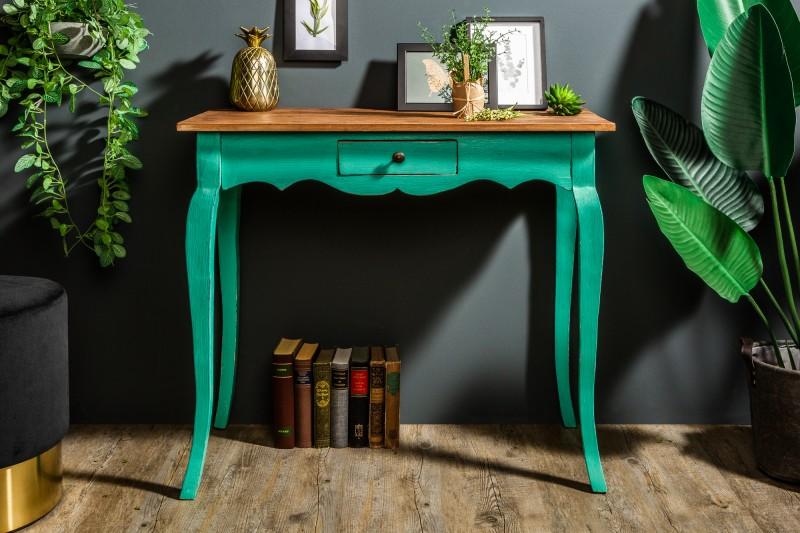 Dizajn konzolový stolík zelený 80cm. - Obrázok č. 1