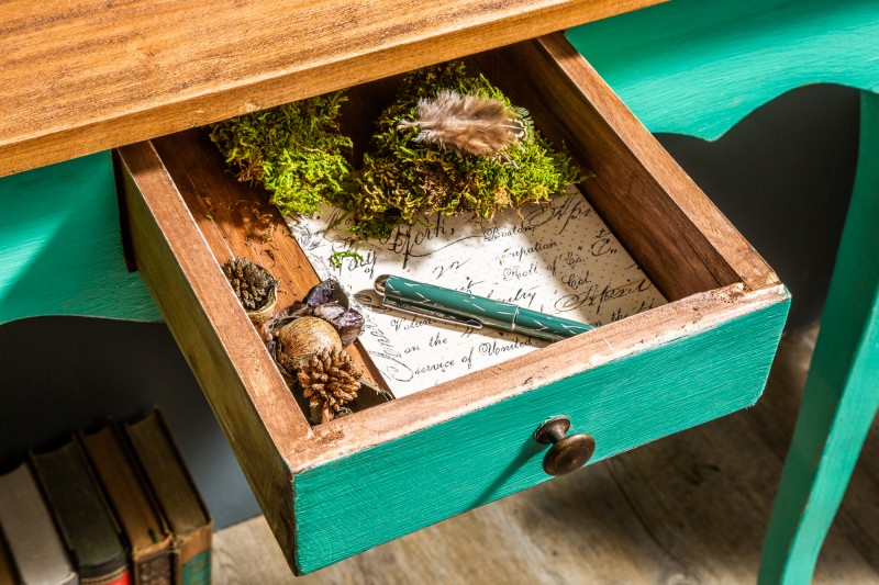 Dizajn konzolový stolík zelený 80cm. - Obrázok č. 2