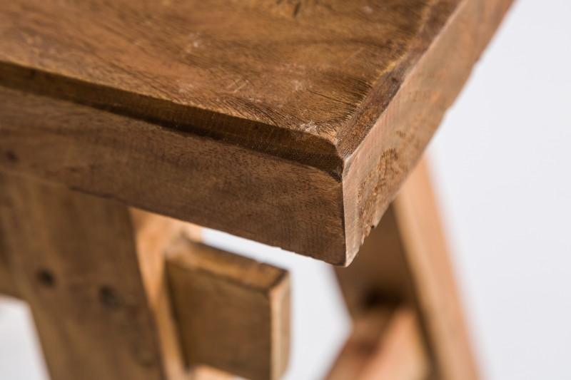 Exotický taburet z recyklovaného masívu. - Obrázok č. 3