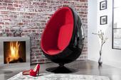 Kreslo Space Egg blk/red,