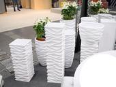 Kvetináč Cubicon White - 2 veľkosti,