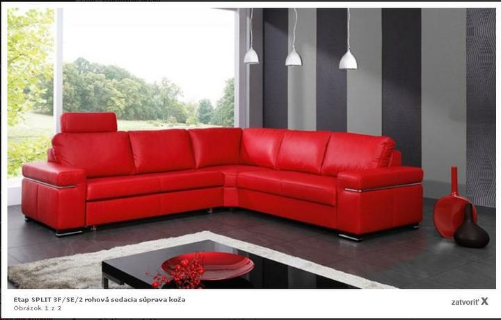 Interier I - Obývacie izby a sedacie súpravy - škoda, že červená po čase omrzí..