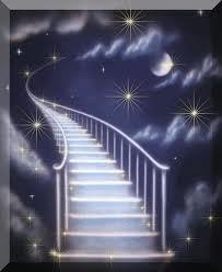 Biele schodisko a interierové dvere? :-) - Schody do neba .. :-)