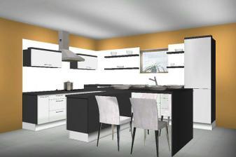 Zmenili sme rozmery takže takáto kuchynka nebude.. ale je tiež krásna