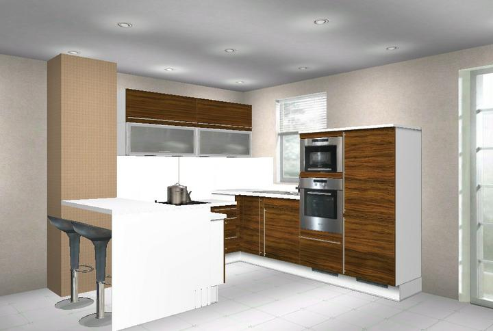 Kuchynka - Návrhy a inšpirácie - V stenovom výklenku chcem niku... v programe sa to nedalo spraviť....