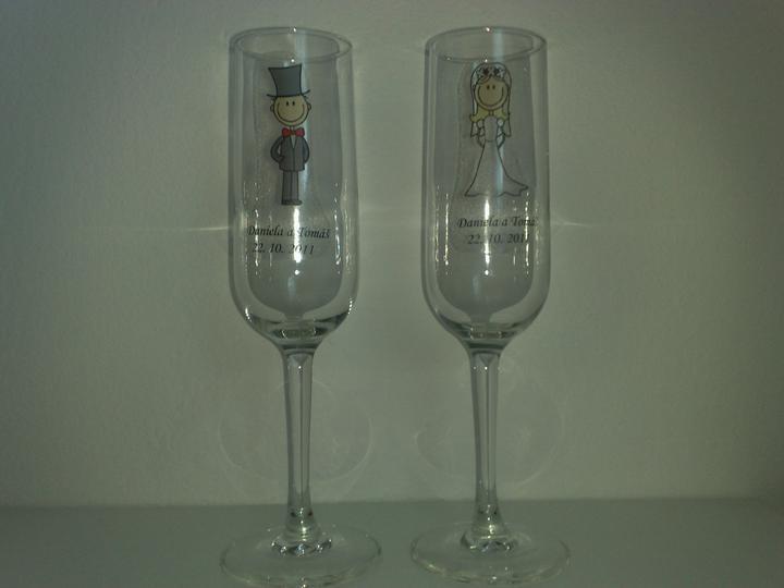 Naša svadba - Takže konečná verzia pohárov