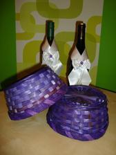 Ozdůbky na víno a košíčky na vývazky